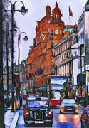 Old Town Digital Art Framed Prints - London City 4 Framed Print by Yury Malkov