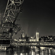 London At Night Framed Prints - london city at Night Framed Print by Ian Hufton