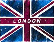 London England  Digital Art - London Distressed Union Jack Flag by Mark E Tisdale
