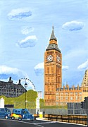 Big Ben Originals - London England Big Ben  by Magdalena Frohnsdorff