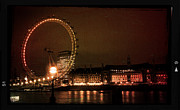 Summer Games Framed Prints - London Eye at Dusk Framed Print by Heidi Hermes
