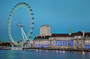 South Bank Framed Prints - London Eye Framed Print by Brian Jannsen