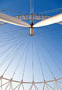 Hub Framed Prints - London Eye Geometry Framed Print by Adam Pender