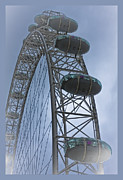 London Eye Posters - London Eye Poster by Maj Seda