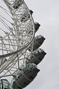 Arial View Photos - London Eye by Stephanie Guinn