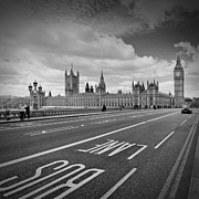 Europe Digital Art Metal Prints - London - Houses of Parliament  Metal Print by Melanie Viola