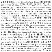 Canary Metal Prints - London in Words White Metal Print by Sabine Jacobs