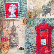 Postmarks Prints - London Letters Print by Leigh Banks