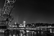London At Night Framed Prints - London Night Cityscape Framed Print by Ian Hufton