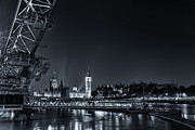 London Skyline Art - london night Skyline by Ian Hufton
