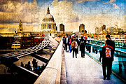 European City Digital Art Acrylic Prints - London of my Dreams Acrylic Print by Mark E Tisdale