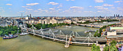 London Eye River Cruise Prints - London Panorama Print by Mariola Bitner