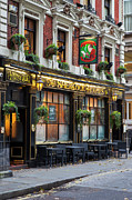 Brick Building Art - London Pub by Brian Jannsen