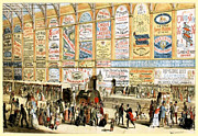 1874 Mixed Media - London Railway Station - Large by Charles Ross