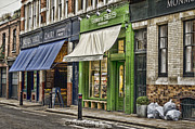 Grocer Prints - London Shop Fronts Print by Heather Applegate