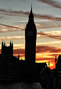 London Art - London Sky on Fire by John Rizzuto