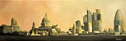 London Skyline Art - London Skyline by Ambika Jhunjhunwala