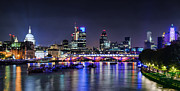 London Skyline Art - London skyline by night by Michael Abid