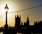 London Photo Posters - London South Bank Silhouette Poster by Susan  Schmitz