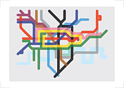 Tube Map Posters - London Squeezed Poster by Sanjay Parekh