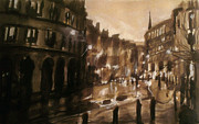 Paul Mitchell Art - London Street Ink Study by Paul Mitchell