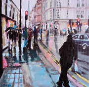 Paul Mitchell Acrylic Prints - London Streets 1 Acrylic Print by Paul Mitchell