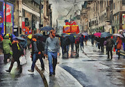 Great Britain Digital Art - London Streets 4 by Yury Malkov