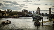 Canary Metal Prints - London Thames Scape Metal Print by Heather Applegate