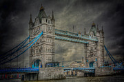 River Scene Posters - London Tower Bridge Poster by Erik Brede