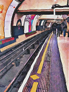 Old Town Digital Art Prints - London Underground 4 Print by Yury Malkov