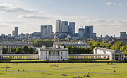 Royal Naval College Metal Prints - London view from Greenwich Metal Print by Stefano Baldini