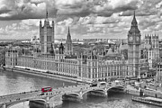 Tower Digital Art Framed Prints - London Westminster Framed Print by Melanie Viola