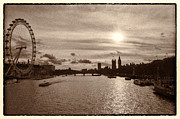 London Eye River Cruise Prints - Londonscape Print by Lenny Carter