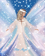 Angel Blues  Metal Prints - Lone Angel Metal Print by Sherri  Of Palm Springs