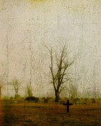 Graveyard Digital Art - Lone Cross by Gothicolors And Crows
