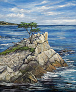 Lone Framed Prints - Lone Cypress a Portrait Framed Print by Lisa Reinhardt