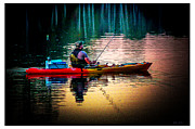 Gone Fishing Photos - Lone Fisherman by Olahs Photography
