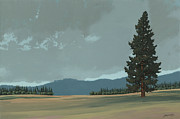Montana Paintings - Lone Pine by John Wyckoff