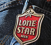 Apparel Framed Prints - Lone Star Beer Framed Print by Bill Owen