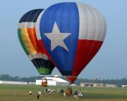 Hot-air Balloons Prints - Lone Star Pride Print by Paul Anderson