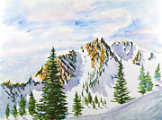Snowy Trees Paintings - Lone Tree in the Morning by Walt Brodis