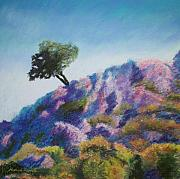 Lone Tree Pastels Prints - Lone Tree Print by Marion Derrett