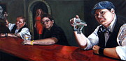 Masculine Painting Originals - Lone Wolves and the femme by Joelle Circe