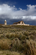 James Brunker Metal Prints - Lonely Altiplano Church Metal Print by James Brunker