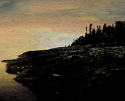 North Shore Pastels Prints - Lonely Artist Print by R Kyllo