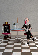 Dine Digital Art - Lonely as a Clown by Liam Liberty