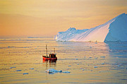 Greenland Prints - Lonely Boat - Greenland Print by Juergen Weiss