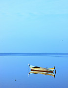 Sail Fish Prints - Lonely boat Print by Mohamed Elkhamisy
