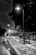 Streetlamps Posters - Lonely Evening At Vulcan Park Poster by Shutter Happens Photography