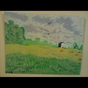 Featured Pastels - Lonely Farm In Kentucky by George Hall II